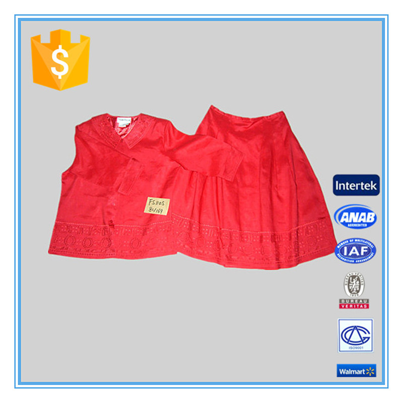 2016 Spring New Style Red 2 Piece Skirt Sets