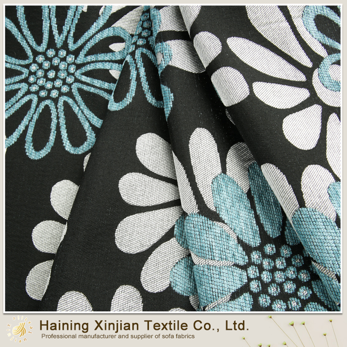 100% polyester heavy weight chenille jacquard fabric