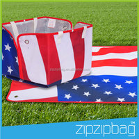 2-in-one 2 Person Outdoor Soft Picnic Mat for Couple, Friends and Picnic Bag