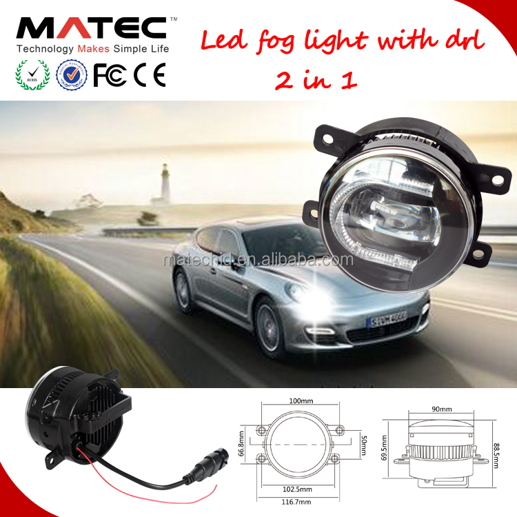 New 3.5 inch led fog light with drl led fog light angel eyes x9drl led drl vinstar led drl lights