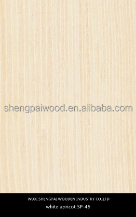 laminated artificial apricot wood veneer sheets for decoration furniture