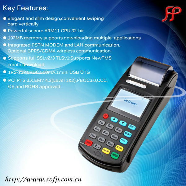 New8110 GPRS EFT-pos terminal with nfc/POS terminal for loyalty program