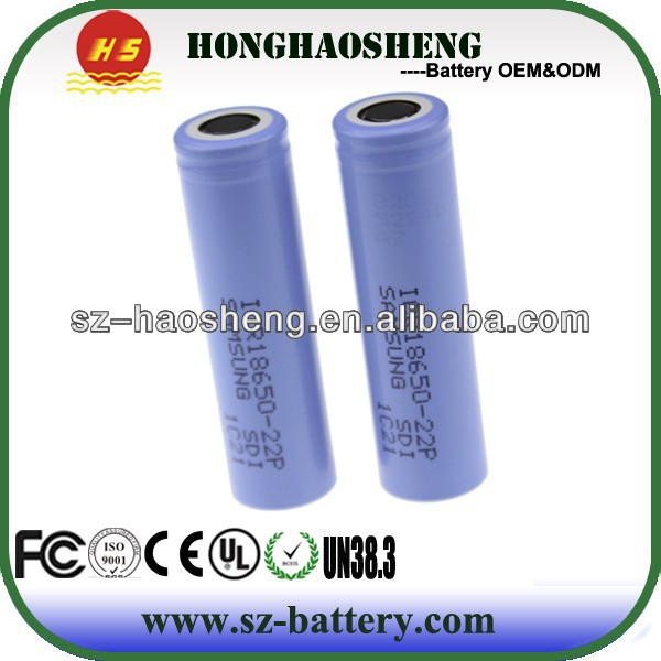 ICR18650-22P battery cell 18650 2200mAh 3.7v icr 18650 li-ion rechargeable battery for samsung