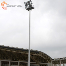 stainless steel 100 foot 30m high mast lighting pole for stadium
