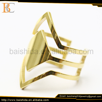 simple gold ring without stones dubai gold plated jewelry with sample service