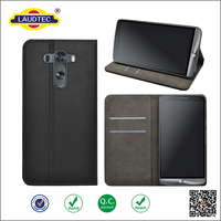 black pu leather flip cover case for LG G5,book style leather wallet case for LG G5