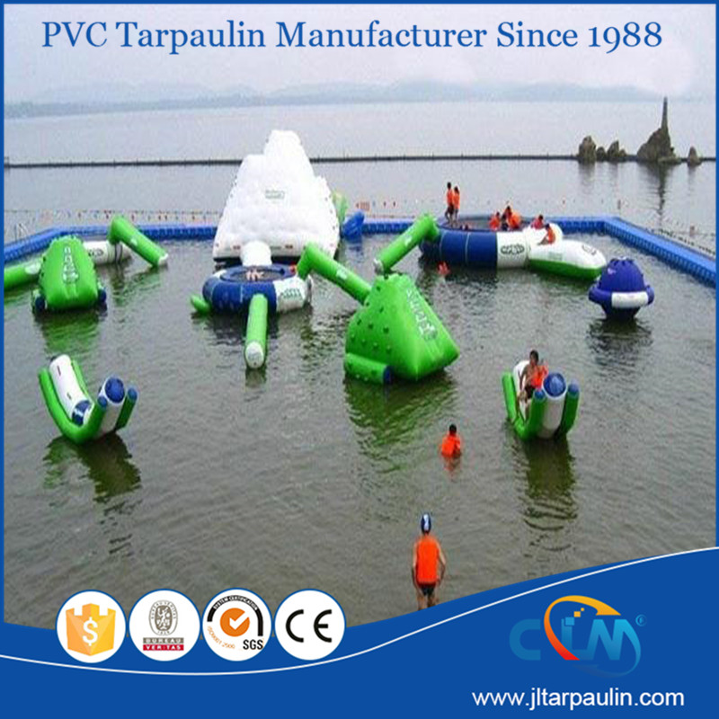 Water park funny High quality inflatable iceberg floating water pool toy for sale