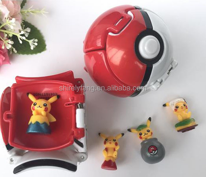 Cheap Price Bounce Pokemon Pokeball Cosplay Pop-up Elf Go Fighting Poke Ball Toy