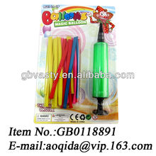 rainbow balloons with pump long shape balloon