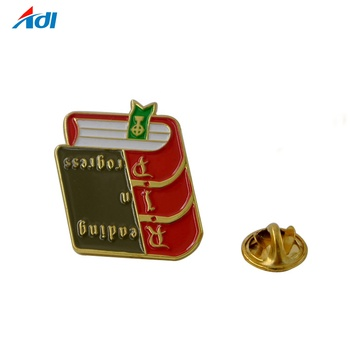 wholesale hot enamel book no minimum custom lapel pins