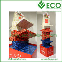 5 Layers Double Side Custom Cardboard Fruit Vegetable Display Rack for Store