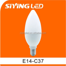 factory direct china C37 E14 3w 5w RA80 CE&ROHS Candle Light led bulbs home