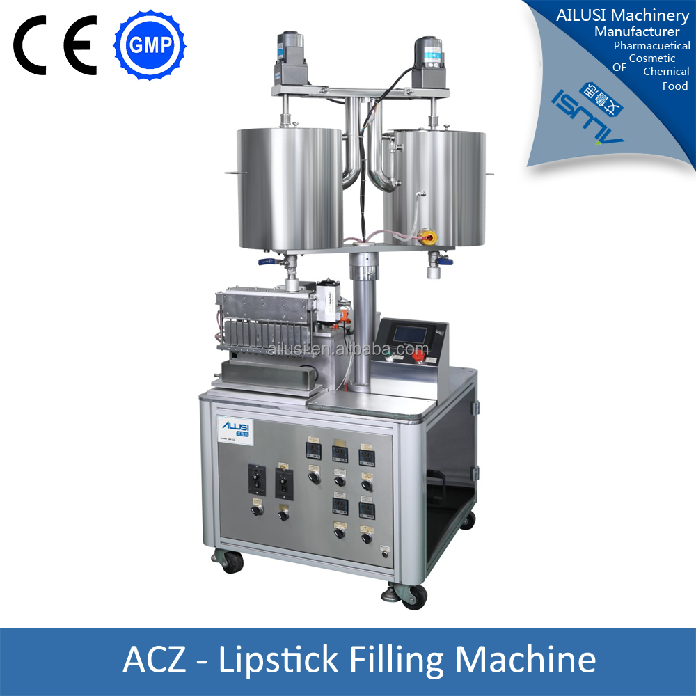 Double tank 12 nozzles automatic lipstick filling machine