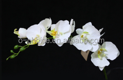 Artifiical phalaenopsis orchids real touch fabric flowers with small-size