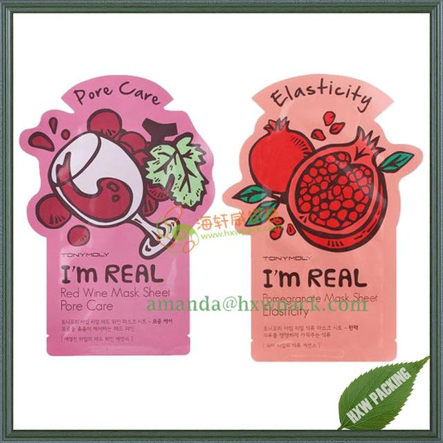 Face mask packaging bag/aluminum foil bag for facial mask /facial mask packaging