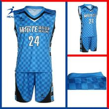 Healong All Over Sublimation Compression Custom Basketball Jersey Design