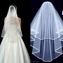 Elegant White Ivory Color Hign Quality Short Wedding Bride Veil With Comb