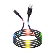 2A Voice Control Fast Data Sync Charging USB Cable with Light for Phone charge cable