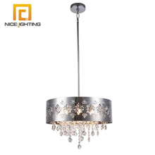 NICE lighting stainless steel shade crystal chandelier 6 lights pendant light australian standard