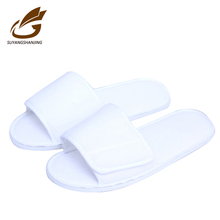 Cheap Hotel Guest Eva Disposable Slippers 220gms White Cotton Hotel slippers