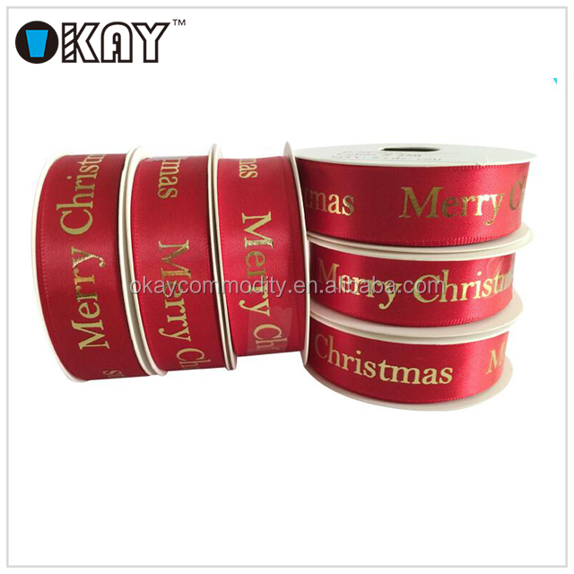 Wholesale Red Grosgrain Ribbon Christmas Celebrate It Ribbon