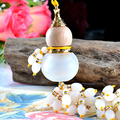 New style gourd car decoration crystal glass perfume bottle