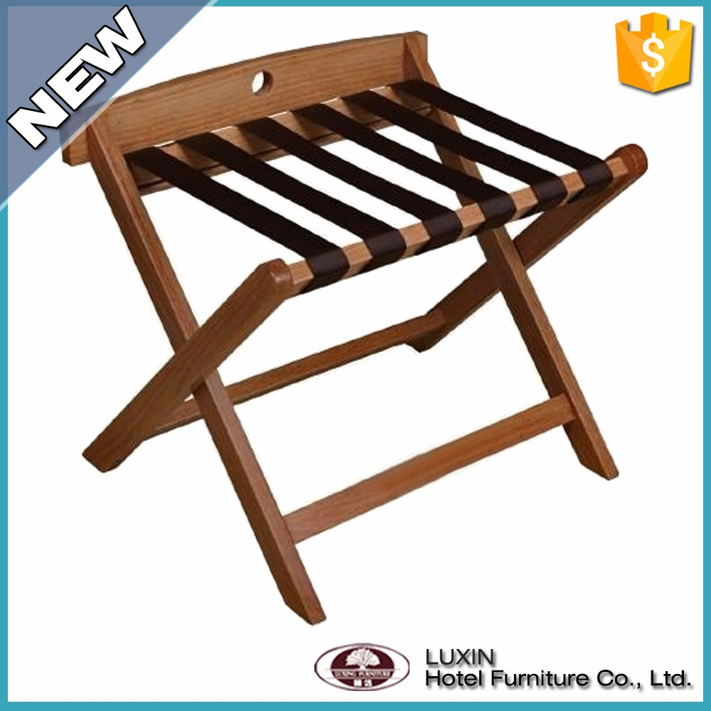china supplier wooden storage rack/luggage rack/hotel luggage rack