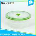 Portable colorful food container with three compartments