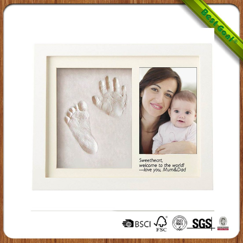 Baby hand and footprint frame for baby keepsake
