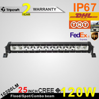 Wholesale 25inch 120W LED spot flood combo offroad led driving light bar