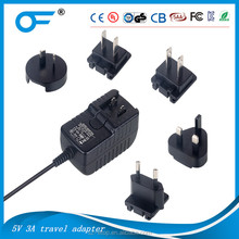 detachable plug power adapter universal 12V 3A ac dc power adapter