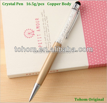 promotional high quality touch screen diamond tip engraving pen with stylus