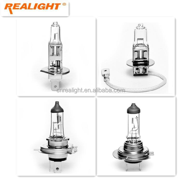 E-mark E4 Clear H1 H3 H4 H7 12V 24V Headlight Auto Halogen Car Bulb