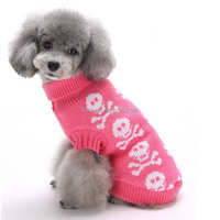 Pet Products Skull Pattern Winter Sweater Dog Clothes manufacturers