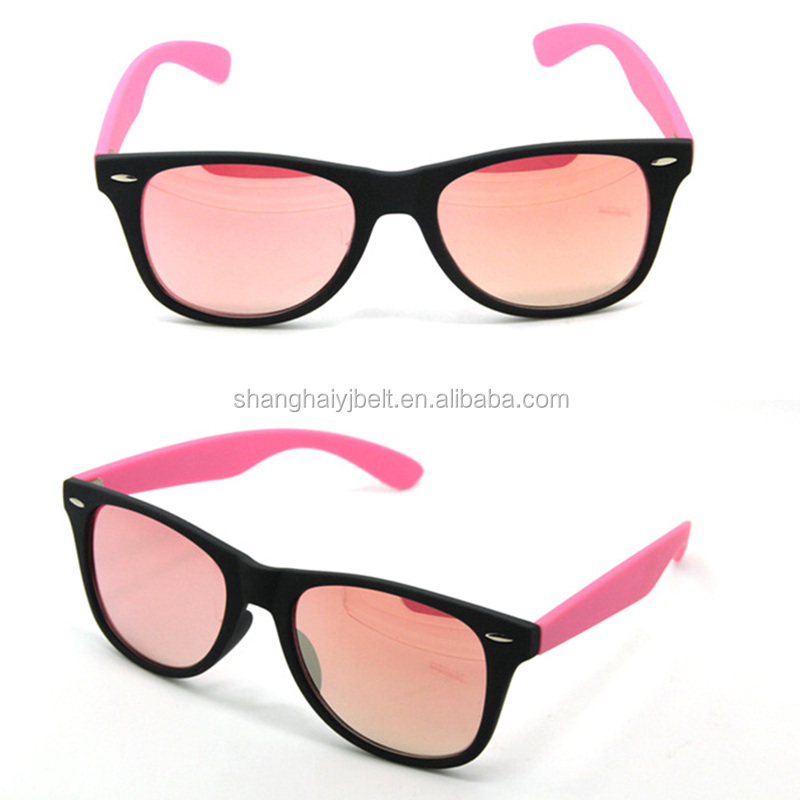 Unique Laura Fairy Custom Fashion Glass Lens Rivet Decor Plastic Sunglasses With Elastic String