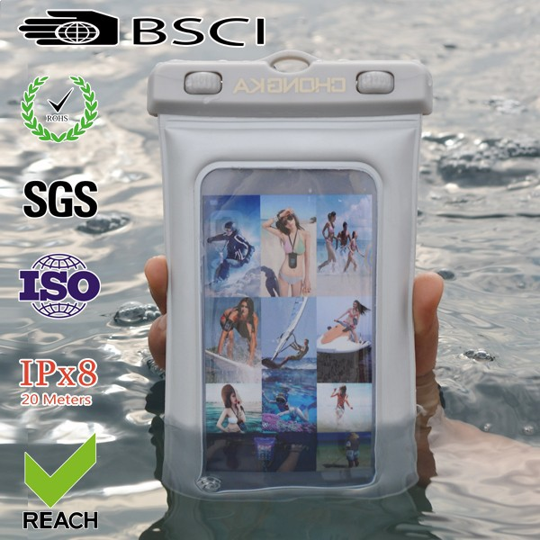 High Quality PVC Clear Waterproof Bag for iphone 6s