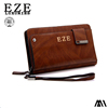 Big Capacity genuine cowhide Leather Clutch Wallet For Man