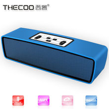 Aluminium alloy portable 10W bluetooth speaker metal wireless car subwoofer