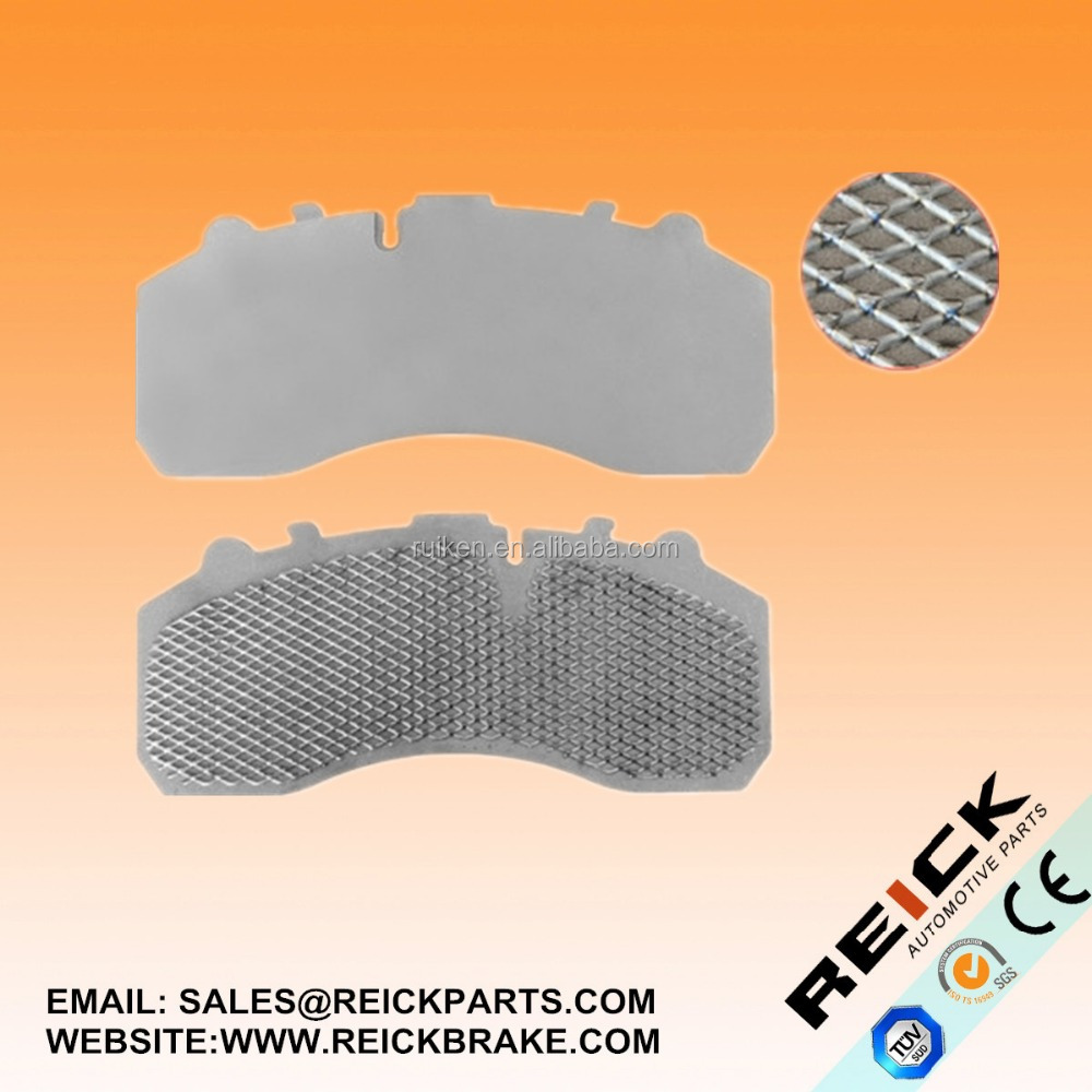 TRUCK BRAKE PAD 29087 net backing steel plate