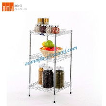 Metal Kitchen Sundries Fruit accessories 3 Layers wire shelving