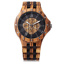 Men's fashion business Custom made wood watch oem with private lable