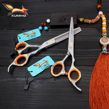 F4-60 Offset Handle hair scissors with micro teeth slicing hairdressing shear in large stock 6 inch