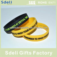 factory direct produced customized personalized silicone wristbands engraved silicone bracelet