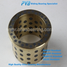 NM25PAD guide post bronze bushing,copper alloy guide bronze bush,self-lubricating flange bronze bearing
