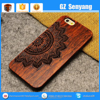 Alibaba Express Wholesale Carved Wooden Cell Phone Case for iphone 6s