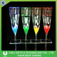Liquid activated champagne glass/Led glow champagne glass