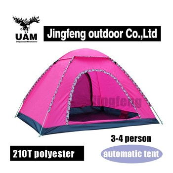 pink outdoor foldable tent