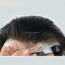 100% human hair natural hairline men toupee