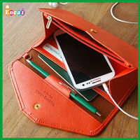 Encai Wholesale Fashion Samsung Note3 Phone Wallet/5S 5C Mobile Phone Case/Cell Phone Bag With Cards & Ticket Holder