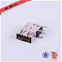 4pin 3.0 usb connector of mobile phone charger 4p usb connector to pcb 4pos f r/a usb connector